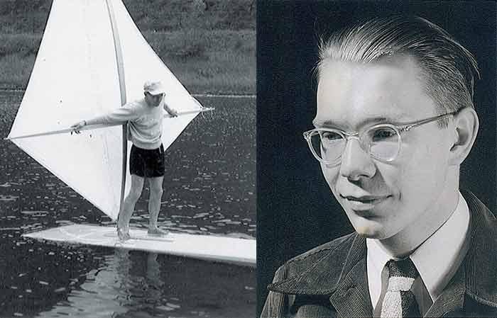 Newman Derby windsurfing inventor