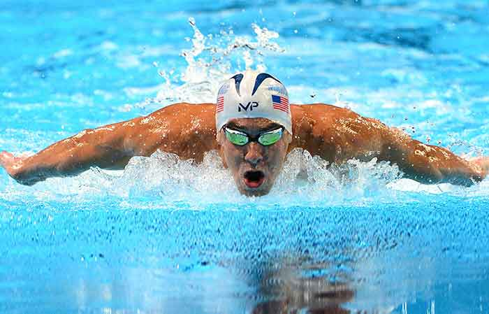 Butterfly stroke: Michael Phelps