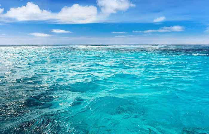 salty ocean water