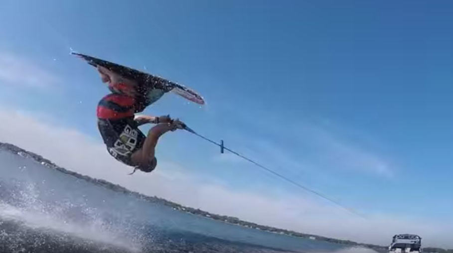 Flip and front roll kneeboard tricks