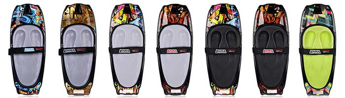 Kneeboarding boards