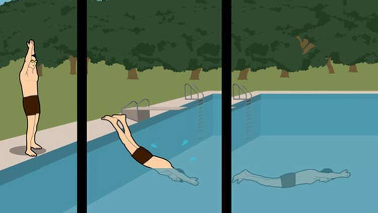 how to dive in a pool: steps by step
