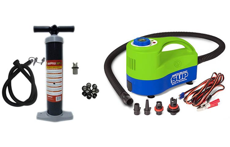 Electric vs manual SUP pumps