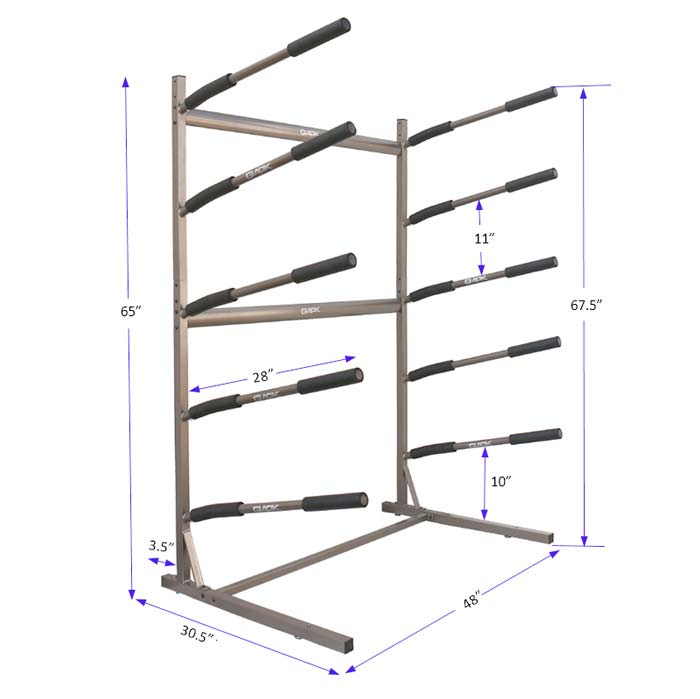 Freestanding SUP storage rack