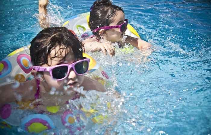 Kids having fun while Swimming