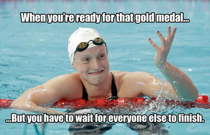 Hilarious swimming funny memes with photos