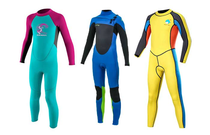 Multi-color wetsuits for kifs