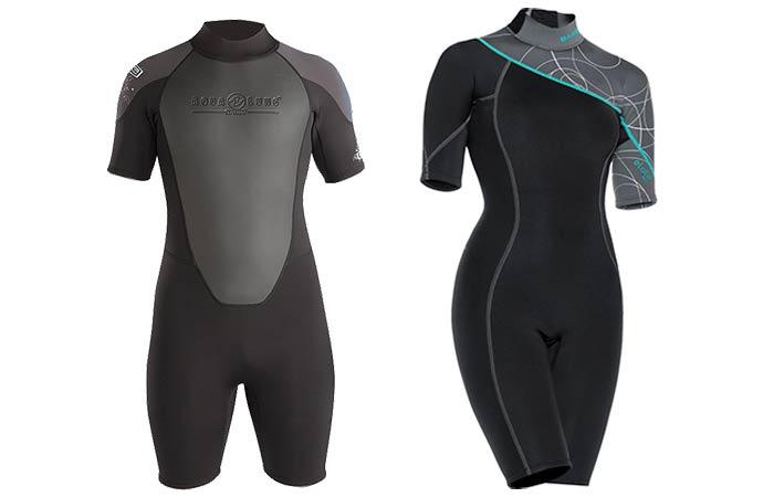 Shorty style wet suit