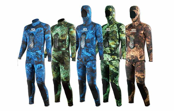 Spearfishing wetsuits: vintage