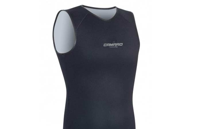 Women can wear sleeveless vest under wetsuits