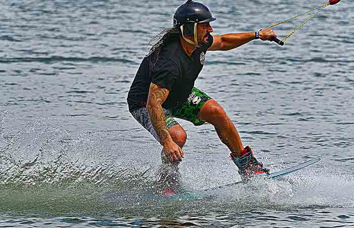 Staying up wakeboarding