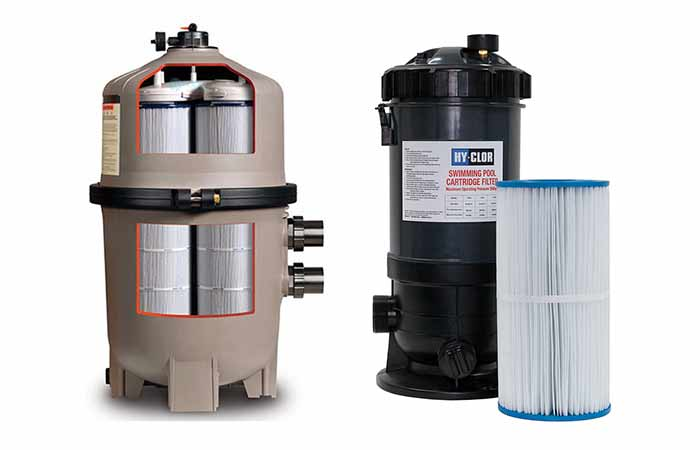 How cartridge pool filter works, pros and cons