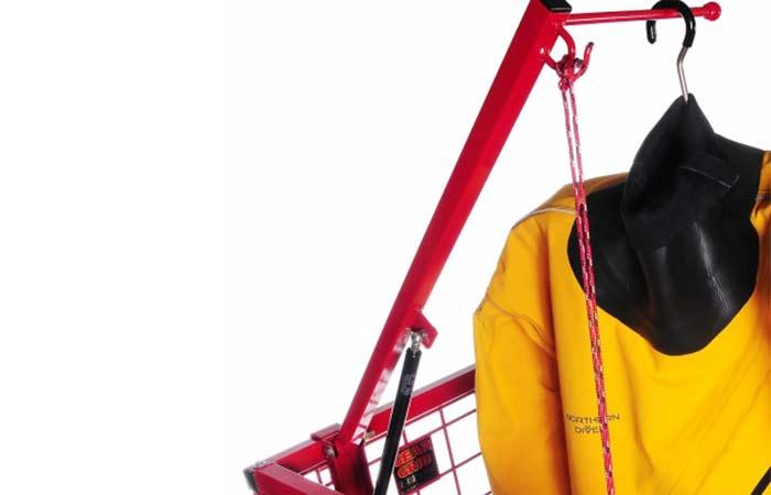 drysuit storage hanger rack