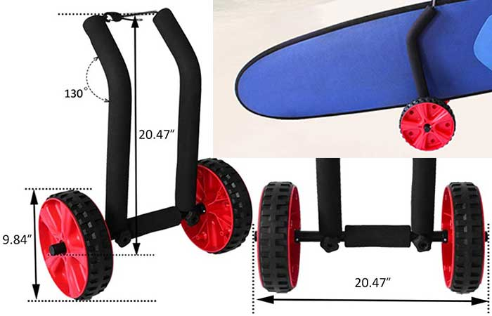 Onefeng Sports SUP Trolly Carrier