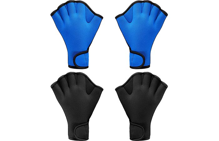Sumind 2 pair webbed swim gloves