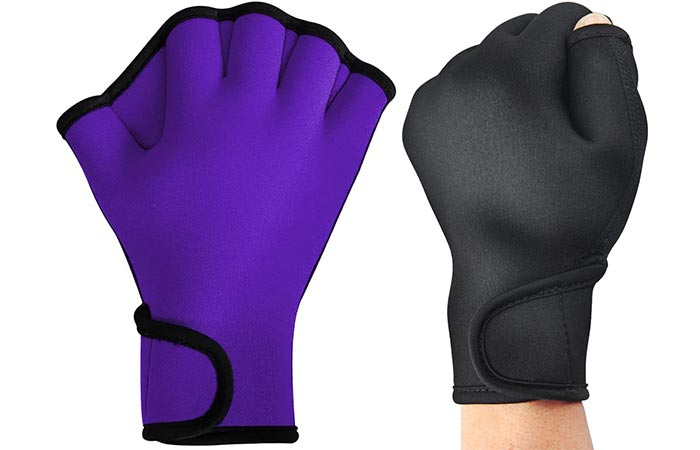 Tagvo webbed swim gloves